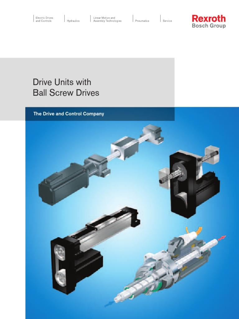 Modulo Linear Bosch Rexroth Screw Bearing Mechanical
