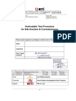 Hydrostatic Test Procedure for Site & Commissioning HT-031-R1