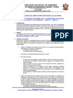 TDR Administracion Directa Residente Puente Peatonal Nueva Union
