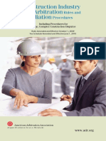 Construction Industry Arbitration Rules and Mediation Procedures