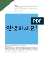Mẹo tiếng Hàn