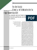 1. 4 GRÜNER, E. El Conflicto de Las Identidades y El Debate de La Representación.