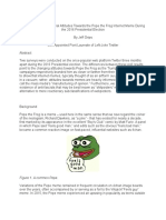 Et Tu Pepe Longitudinal Attitudes Towards the Pepe the Frog Internet Meme