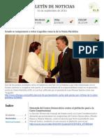Boletín de noticias KLR 16SEP2016