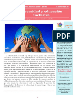 boletín diversidad y educación inclusiva