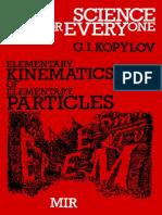 Elementary Kinematics