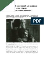 Por Qué Se Perdió La Guerra Con Chile