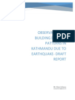 Draft Report Observation of Building Damage in Ktm Valley After Eq. Kiran