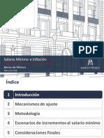 Salario Minimo e Inflacion - Dr Daniel Samano P - Marzo 2016