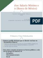 Comentarios Salario Minimo e Inflacion Banco de Mexico - Dr Fausto Hernandez T - Marzo 2016