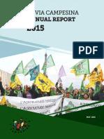 Via Campesina en Annual Report 2015