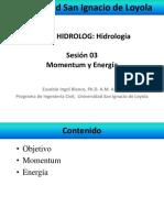 ecuacion de continuidad, cantidad de movimiento y energia