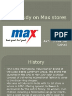 A Study on Max Stores