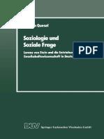 QUESEL-Soziologie und Soziale Frage_ Lorenz von Stein und die Entstehung der Gesellschaftswissenschaft in Deutschland-Deutscher Universitätsverlag (1989)