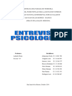 Entrevista Psicologica.