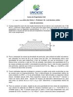 Lista1 Exercicios Mec Solos1 UNOESC