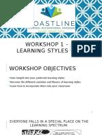 Workshop 1 - Learning Styles