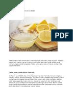 Khasiat Lemon Dan Kacang Bendi