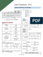 Formulário Estatistica Descritiva Univariada e Bivariavada