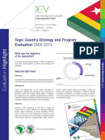 2016 Togo Country Strategy Evaluation Highlight