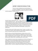 Sartre Et Simone de Beauvoir