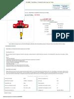 Ref_ 99535 - Talha Elétrica 1 Tonelada de Cabo de Aço Com Trolley