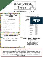 Newsletter Sept. 19