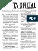 Gaceta Oficial Número 40.988 (Estudio TDC y TDD Julio 2016)