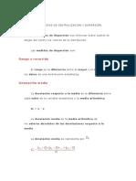 Medidas de Centralizacion y Dispersión