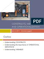 Constructs Variables and Operationalization