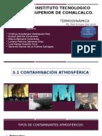 Contaminación Atmosférica, Termodinámica