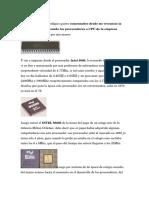 Evolucion de Los Procesadores Intel LDS