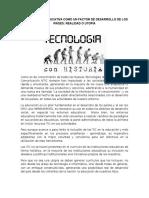 La Tecnología Educativa Como Un Factor de Desarrollo de Los Países