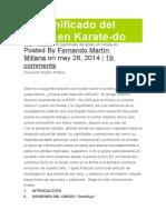 Significado de Los Cintos en Karate