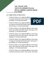 Objectives 5e