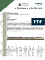 Ciclo Historiadores y La Lit. Arg