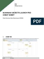 Business Objects BI Launchpad Cheat Sheet