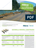 Geomalla Biaxial Coextruida