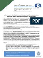 La Intervencion Interdisciplinar en Los Pacientes Ancianos Con Fractura de Cadera. Funcion y Mortalidad