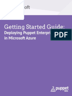 Getting Started Guide Puppet Enterpise Azure