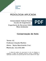 PEDOLOGIA APLICADA - Tecnicas de Conservação Do Solo (1)