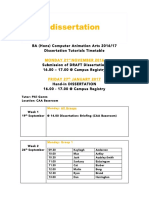 Dissertation Tutorials CAA 2016-17