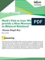 Modi Visit to Iran IDSA