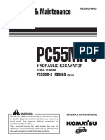Komatsu PC55MR-3 Operators Manual