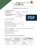 Plan Curricular Anual 2014-2015 Matematica Decimo