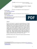 Industrial Clusters as a Regional Development Tool