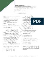 2ª Lista de Exercícios de Álgebra Linear B