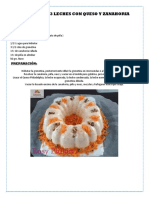 Gelatina 3 Leches y Zanahoria