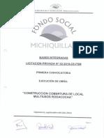 Bases Integradas Cobertura de Local Multiusos Rodacocha