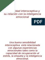 Sensibilidad interoceptiva y su relación con la inteligencia emocional